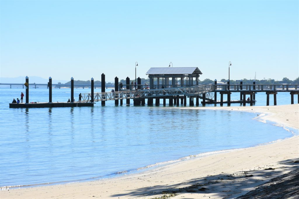Picture of bongaree jetty bribie island