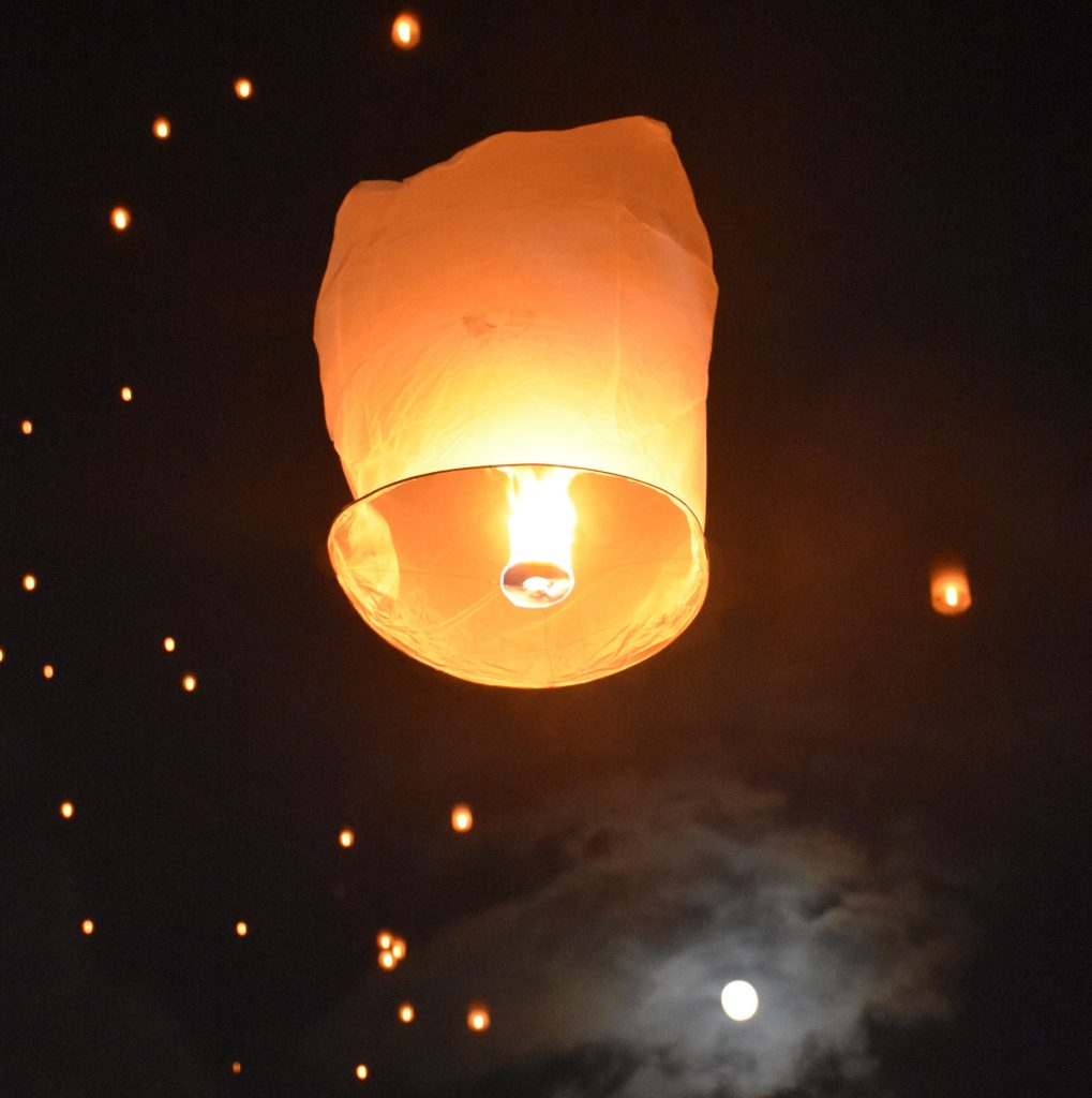 lanterns at yee peng festival